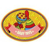 Baby toys machine embroidery design
