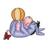 Baby Eeyore embroidery design 2