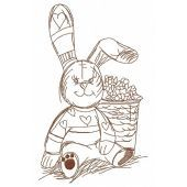 Bunny rabbit embroidery design 3