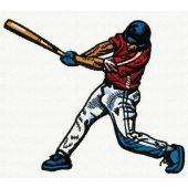 Baseball player machine embroidery design 2