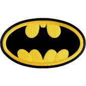 Batman logo applique machine embroidery design