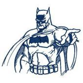 Batman sketch machine embroidery design 2