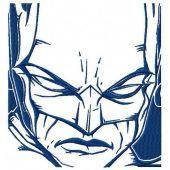 Batman sketch machine embroidery design