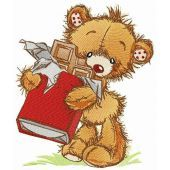 Bear with chocolate bar