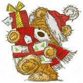 Bear with New Year presents
