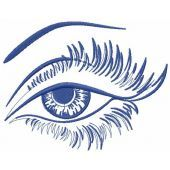 Beautiful eyes embroidery design