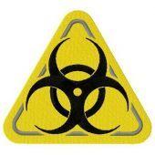 Biohazard road symbol machine embroidery design 2