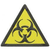 Biohazard road symbol machine embroidery design