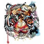 Bloody tiger muzzle