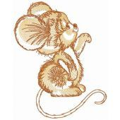 Brown mousekin embroidery design