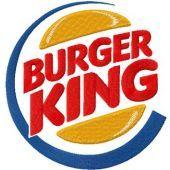 Burger King logo machine embroidery design