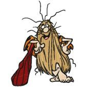Captain Caveman embroidery design