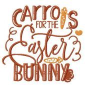 Carrots for the Easter bunny embroidery design