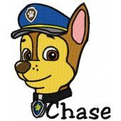 Chase embroidery design 2