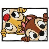 Chip & Dale embroidery design 5