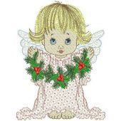 Angel with Christmas decorations