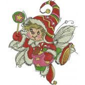 Christmas elf machine embroidery design