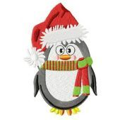 Сhristmas penguin machine embroidery design 2