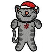 Сhristmas soft kitten machine embroidery design