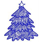 Christmas tree machine embroidery design 2
