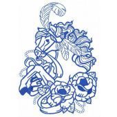 Circus horse embroidery design 2