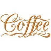 Coffee machine embroidery design