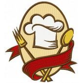 Cookery symbol machine embroidery design