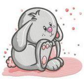 Cute bunny machine embroidery design