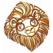 Cute lion machine embroidery design 2