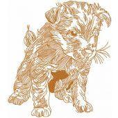 Cute puppy embroidery design