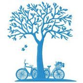 Dating under the tree machine embroidery design 3