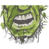 Incredible hulk face mask embroidery design