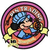 Disneyland emblem machine embroidery design