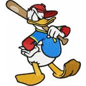 Donald Duck embroidery design 1