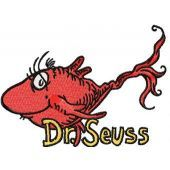 Dr. Seuss Fish embroidery design 1