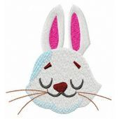 Dreamy bunny muzzle embroidery design