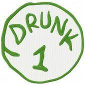 Drunk 1 machine embroidery design