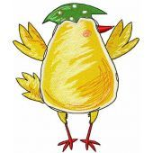 Easter chicken embroidery design 1