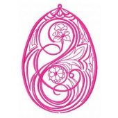 Easter egg machine embroidery design 3