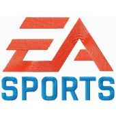 EA Sports logo machine embroidery design