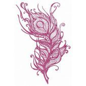 Feather embroidery design 35
