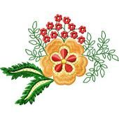 Flowers Small Element embroidery design 4