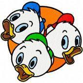 Friends ducks machine embroidery design