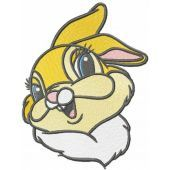 Funny miss bunny embroidery design