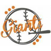 Giants Baseball embroidery design