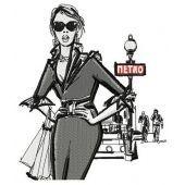 Girl near metro