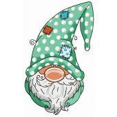 Gnome in polka dot phrygian cap
