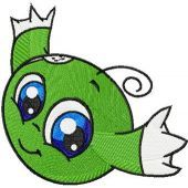 Green Kiko embroidery design