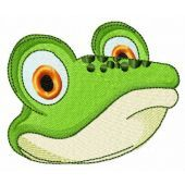 Green frog muzzle