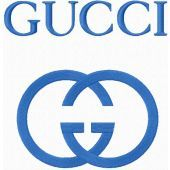Gucci logo machine embroidery design